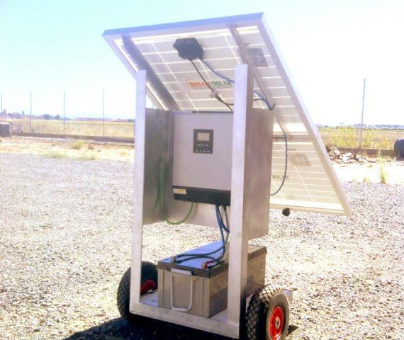 Generador fotovoltaico movil