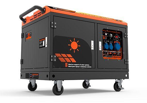 Generador eléctrico Genergy Guardian S6-Sol para apoyo a instalaciones solares fotovoltaicas con arranque automático desde el inversor o regulador solar