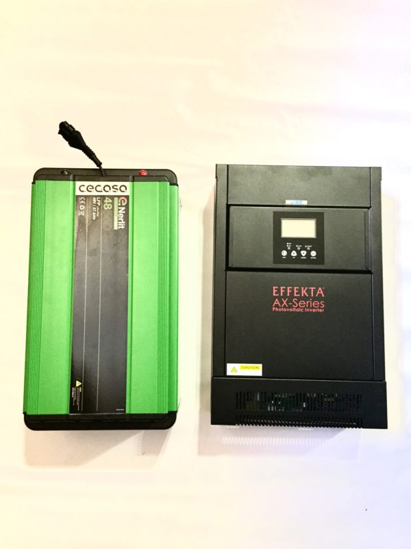 Kit de batería de litio Cegasa e Inversor Effekta AX Series Aleman