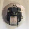 Vista trasera de motor de humos para estufa de pellet Extraflame