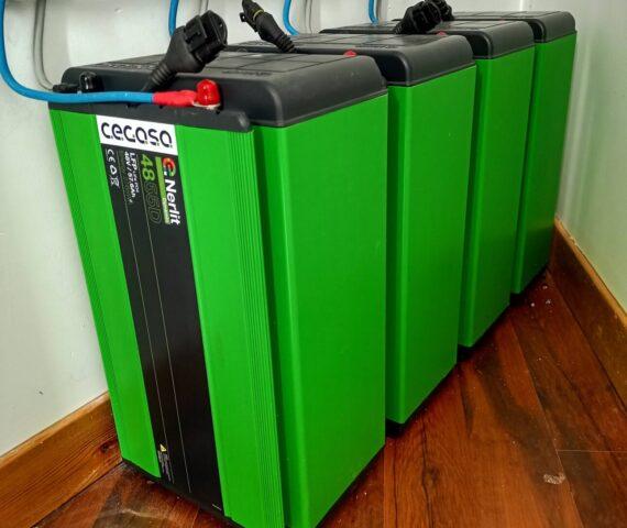 Instalación con batería de lítio Cegasa