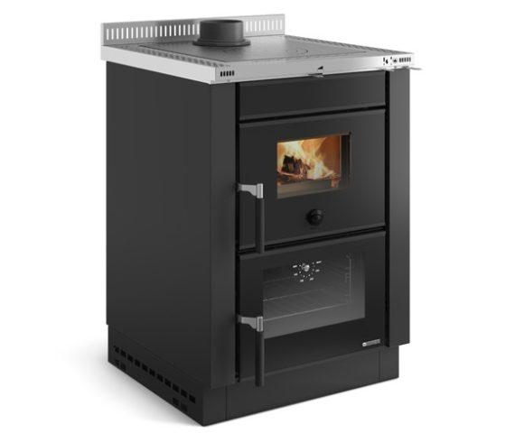 Cocina y horno de leña insertable Vicenza Evo color negro de La Nórdica