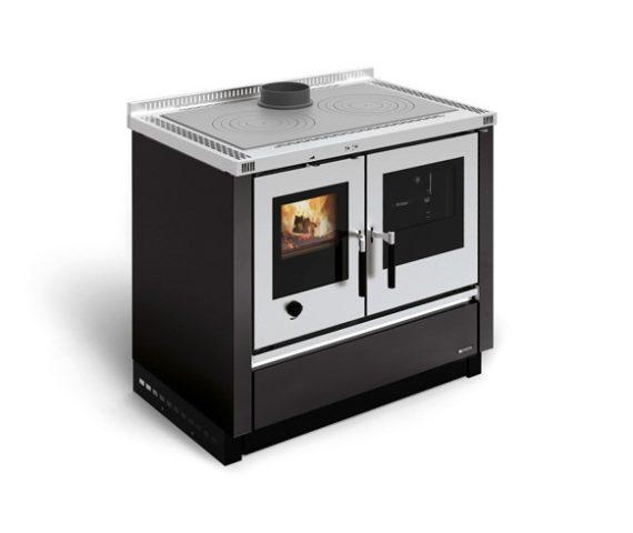 Cocina de leña insertable Padova color negro antracita de La Nórdica