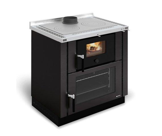 Cocina de leña Verona color negro antracita de La Nórdica