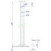 Medidas de puntera de torre de aerogenerador Bornay