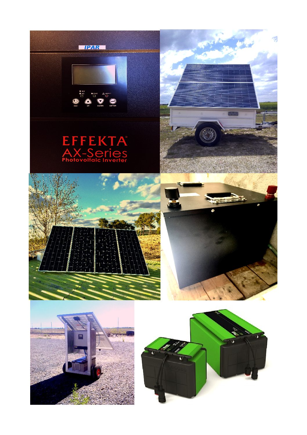 Productos de energía Solar fotovoltaica