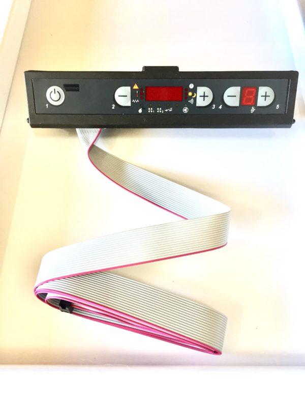 Pantalla, display de led rojo, de estufas y calderas de pellet Extraflame
