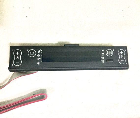 Display LCD azul para calderas, estufas y termoproductos de la marca Extraflame