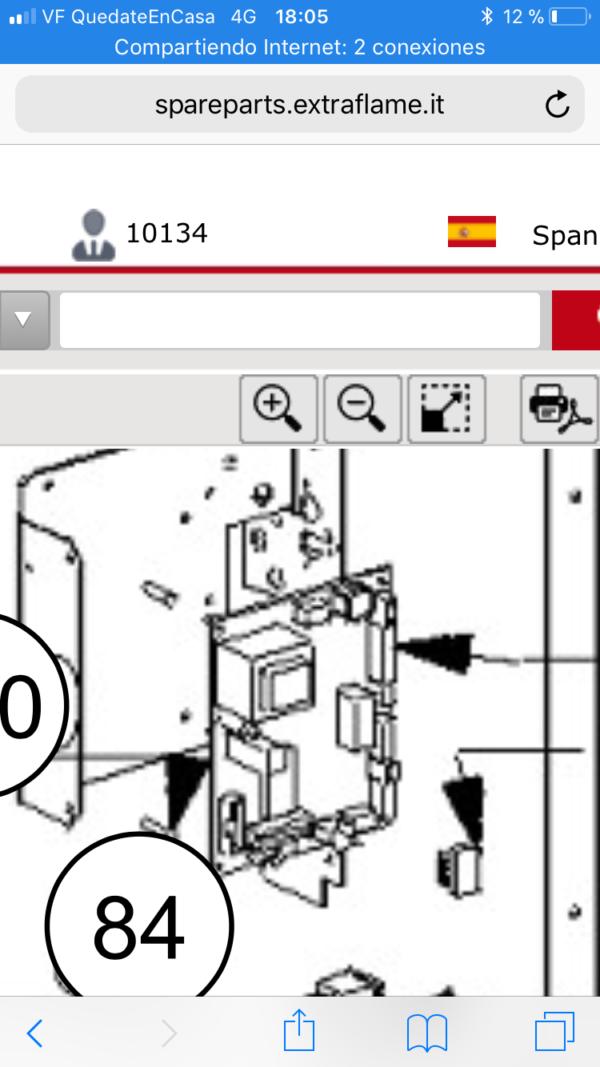 Placa electrónica de estufas de pellet Ecológica e inserto Confort Maxi de Extraflame